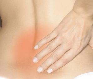 Kreuzschmerzen Stelle am Rücken